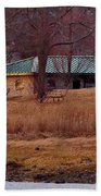 Obear Park At Sunset In Winter Beach Towel