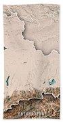 Oberbayern Regierungsbezirk Bayern 3d Render Topographic Map Neu Beach Towel