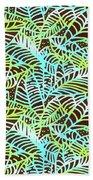 Ocean Leaves Key West Beach Towel by Karen Dyson
