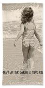 Ocean Moment Quote Beach Sheet