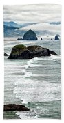 Ocean Rocks Off The Oregon Coast Beach Sheet