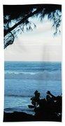 Ocean Silhouette Beach Towel