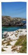 Ocean Water And Rocks Beach Towel