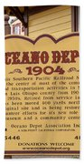 Oceano Depot 1904 Beach Towel