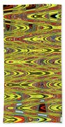 Oceanside Sea Lions On The Dock Abstract #9a Beach Towel
