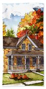 October At The Farm Beach Towel