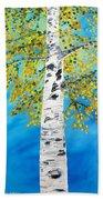 October Birch Beach Towel