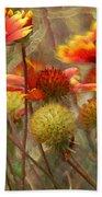 October Flowers 2 Beach Sheet