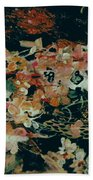 October Flowers By Night Beach Towel