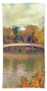 October In Central Park Beach Towel