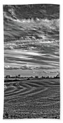 October Patterns Bw Beach Towel