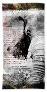 Of Elephants And Men Beach Sheet