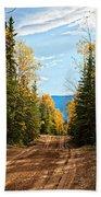 Off The Alaska Highway Beach Towel