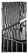 Office Buildings Reflections Beach Towel
