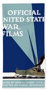 Official United States War Films Beach Towel by War Is Hell Store