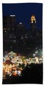 D3l-464 Ohio State Fair With Columbus Skyline Beach Towel