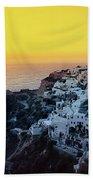 Oia Town , Santorini Island, Greece Beach Towel