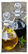 Oil And Vinegar Beach Towel by Elena Elisseeva