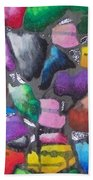 Oil Pastel Abstract Beach Towel