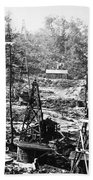 Oil: Pennsylvania, 1863 Beach Towel