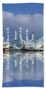 Oil Refinery Industry Plant Beach Towel