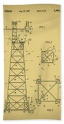 Oil Rig Patent Beach Towel