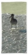 Standing In The Wave Beach Towel