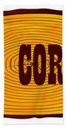 O.k. Corral Log Sign Beach Towel