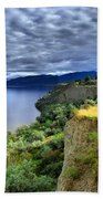 Okanagan Lake On A Thursday Beach Towel