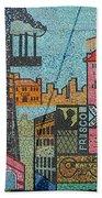 Oklahoma City Bricktown Mosaic Wall Beach Towel