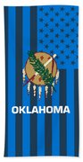 Oklahoma State Flag Graphic Usa Styling Beach Towel