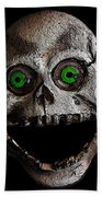 Ol' Wooden Skull Beach Towel