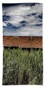 old abandoned house Texico NM Beach Towel