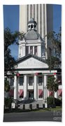 Old And New State Capitol Beach Towel