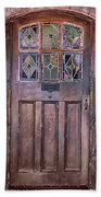 Old Arched Doorway-tucson Beach Towel
