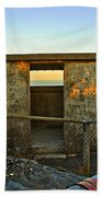 Old Army Lookout In Sunset Hour Beach Towel