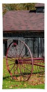 Old Barn And Rusty Farm Implement 02 Beach Towel