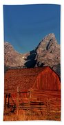 Old Barn Grand Tetons National Park Wyoming Beach Towel by Dave Welling