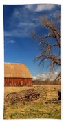 Old Barn In Chester Beach Towel