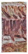 Old Barn Outhouse Falling Apart In Decay And Dilapidation Rotting Wood Overgrown Mountain Valley Sce Beach Towel