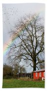 Old Barn Rainbow Beach Towel