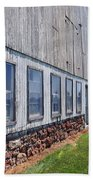 Old Barn Windows Beach Towel