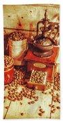 Old Bean Mill Decor. Kitchen Art Beach Sheet