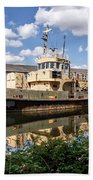 Old Boats Along The Exeter Canal 2 Beach Towel