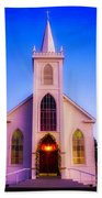 Old Bodega Church Sunset Beach Towel