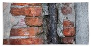 Old Brick Wall Abstract Beach Towel