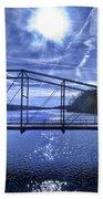 Old Bridge Over The Savannah River 001 Beach Towel
