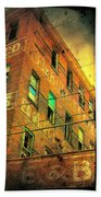 Old Empty Building In Retro Colors Beach Towel