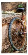 Old Bycicle Beach Towel