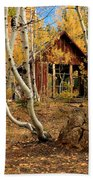 Old Cabin In The Aspens Beach Towel